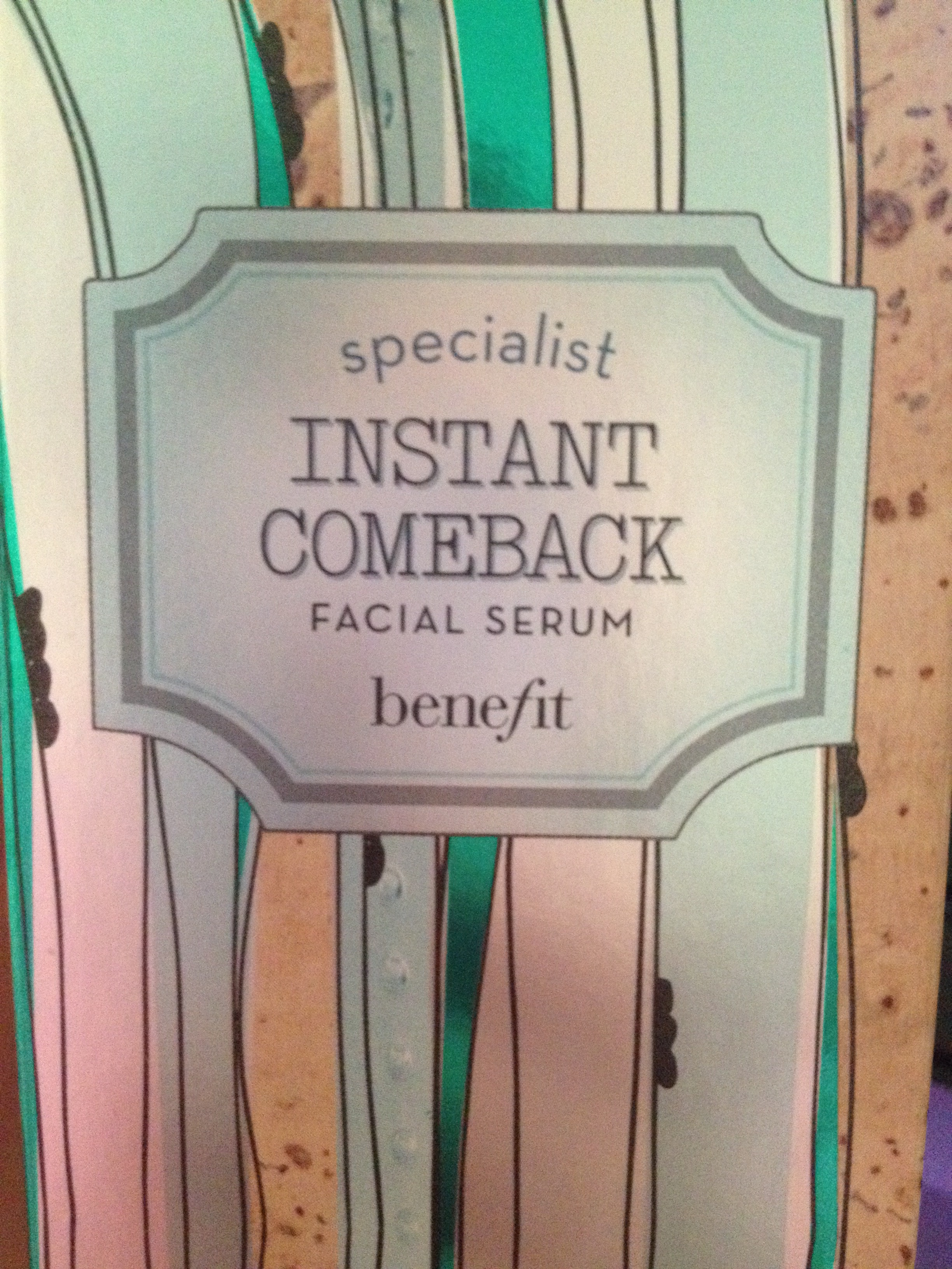 Benefit Instant Comeback Serum