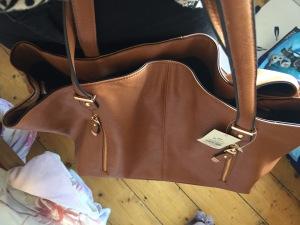 miss selfridge tan bag