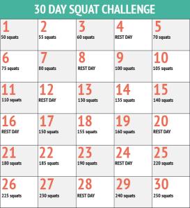 squat challenge