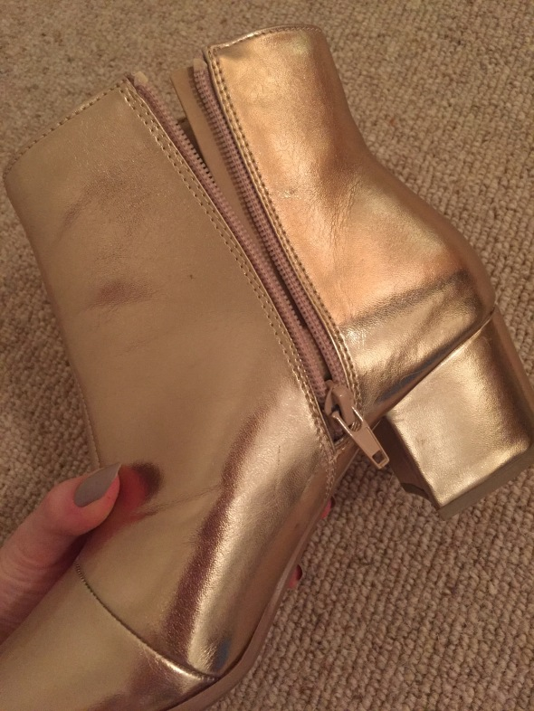 Primark gold ankle boots