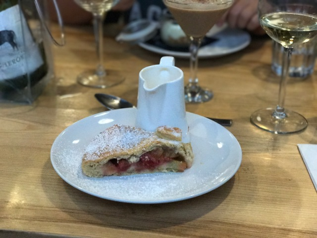 Rhubarb and strawberry tart High Street Social Treorchy