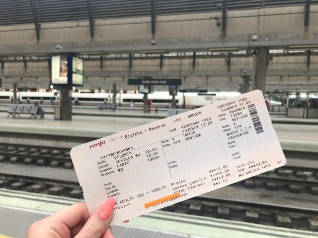 Train from Seville to Cadiz